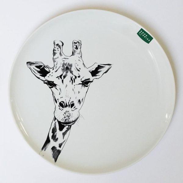 duży talerz obiadowy żyrafa
