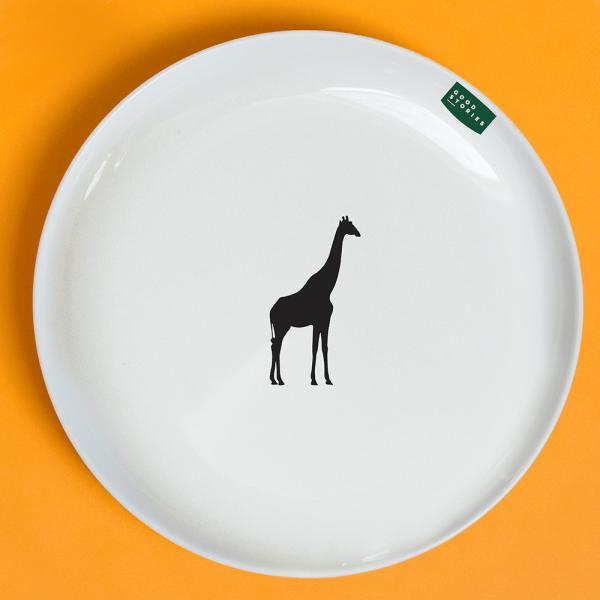 mały talerz obiadowy żyrafa