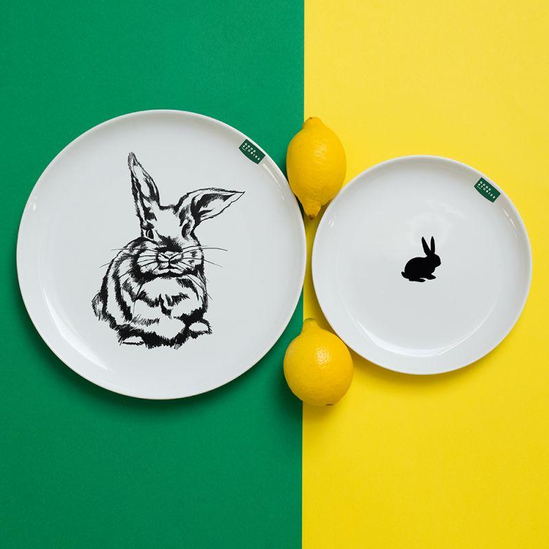 talerz obiadowy królik