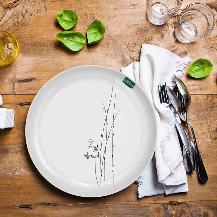 Duży talerz obiadowy