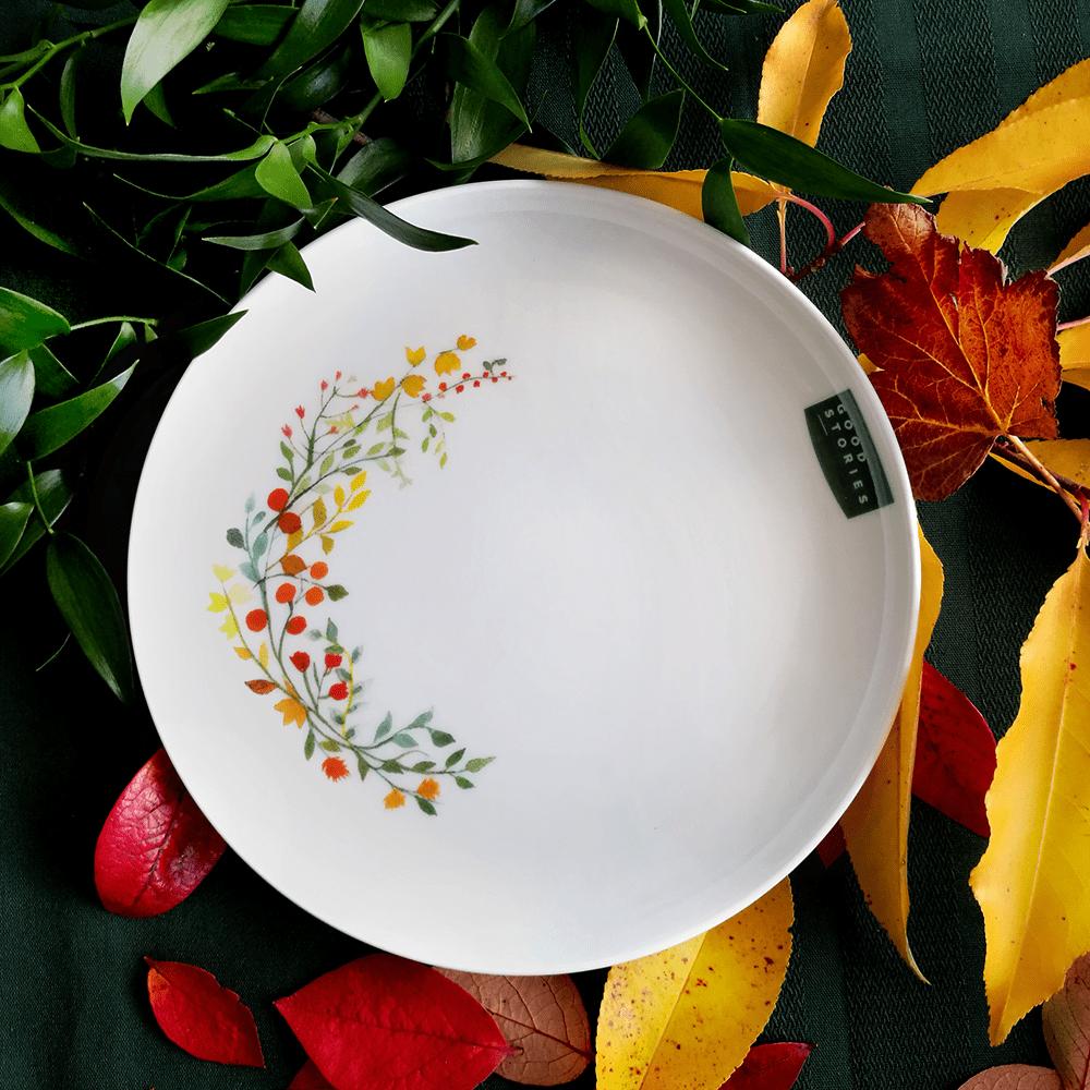 talerz duży z motywem jesieni