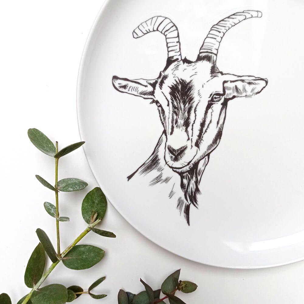 talerz z kozą