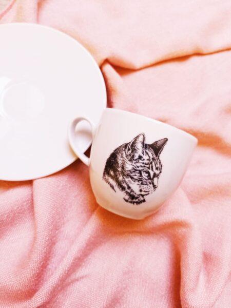 filiżanka z kotem