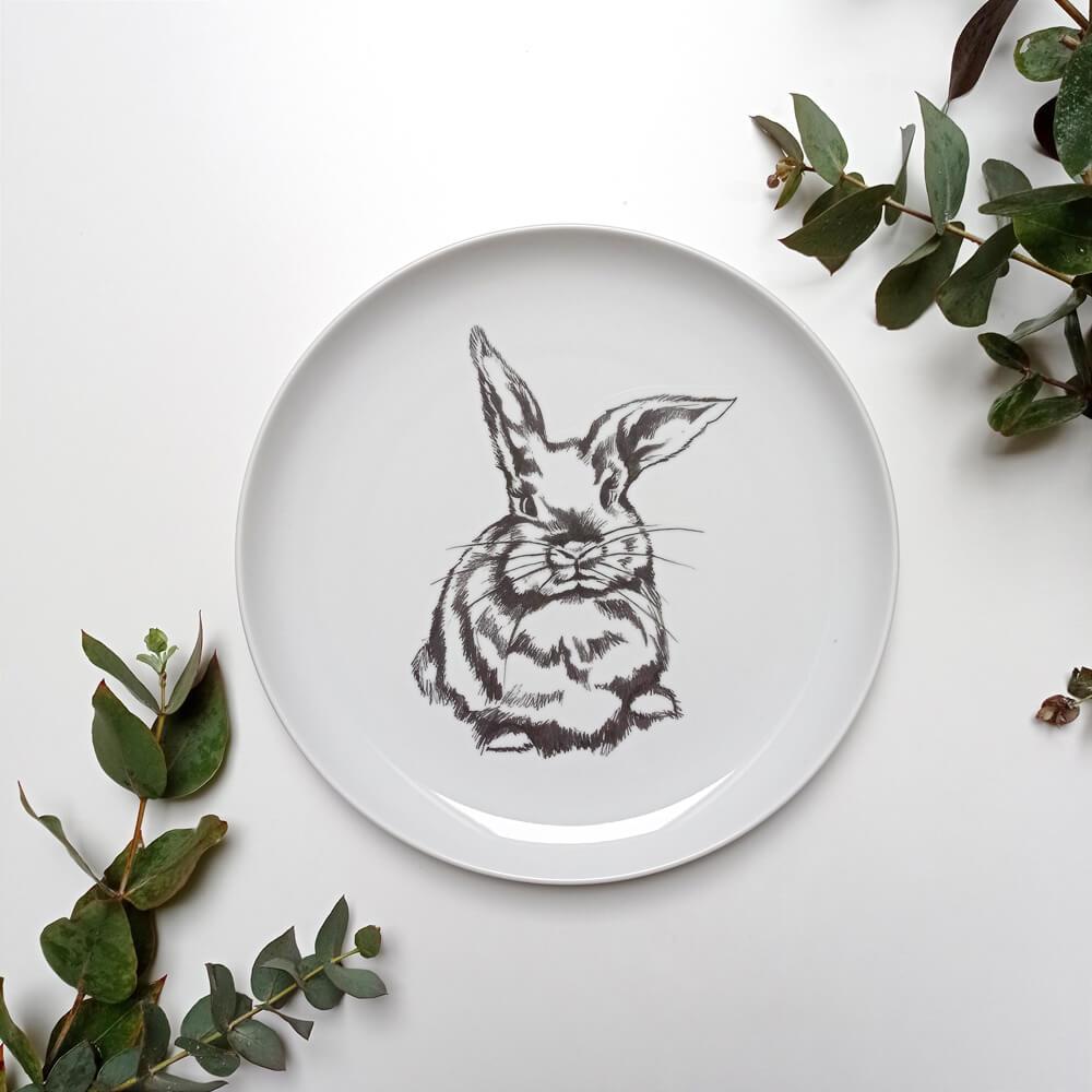 talerz z królikiem