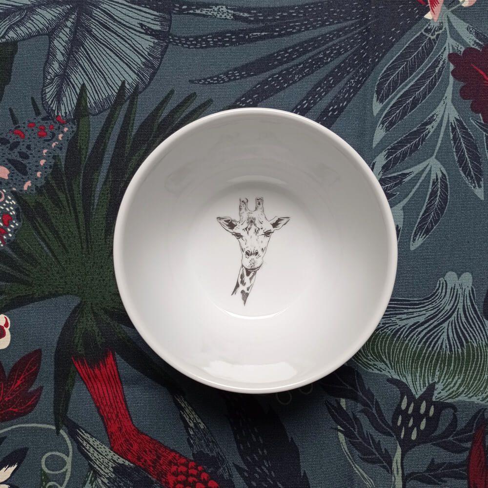 Miseczka z żyrafą porcelana plateria