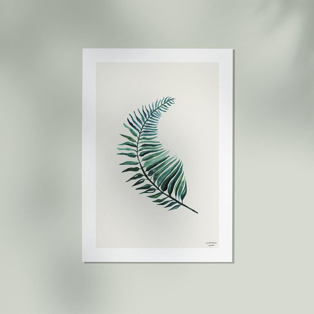 plakat botaniczny z paprotką