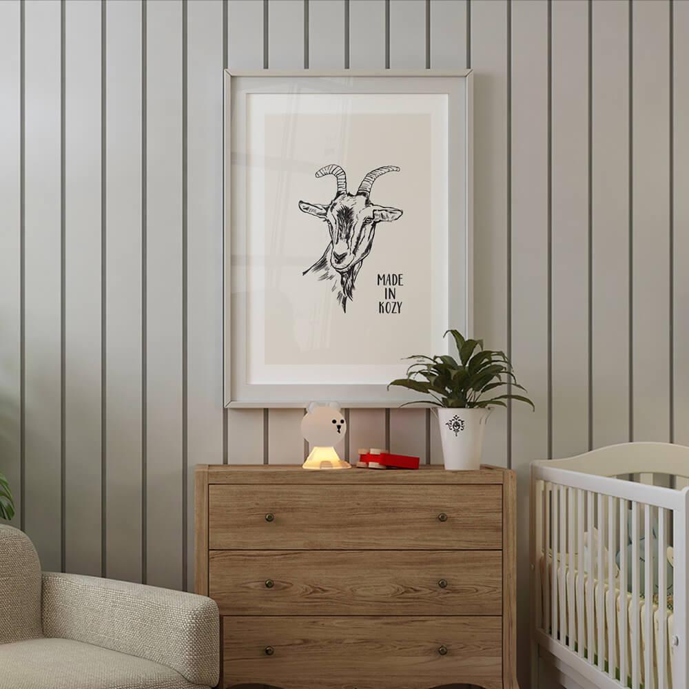 plakat z kozą made in kozy