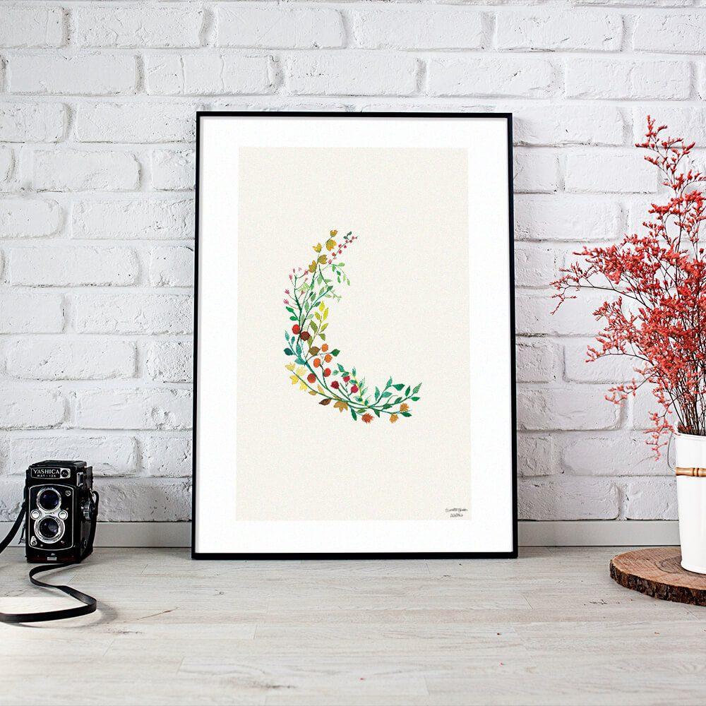 plakat botaniczny jesien